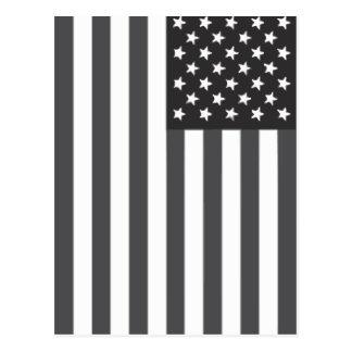 Bandera americana sometida tarjeta postal