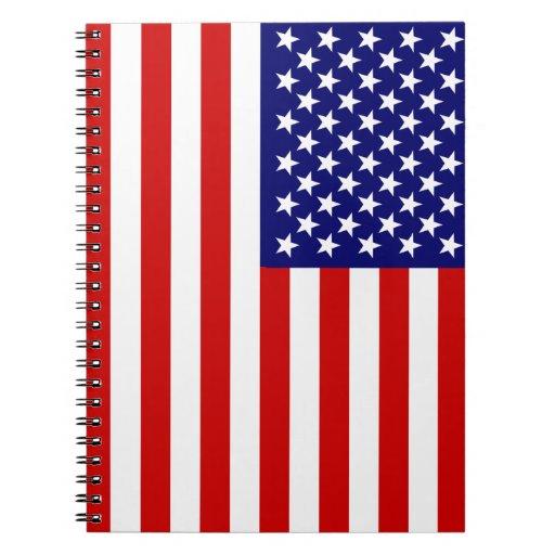 Bandera americana spiral notebook