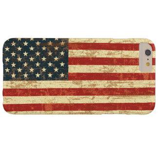 Bandera americana sucia funda de iPhone 6 plus barely there