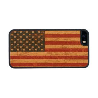 Bandera americana sucia funda de cerezo carved® para iPhone 5