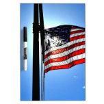 Bandera americana tablero blanco