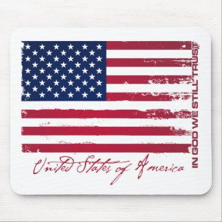 Bandera americana alfombrilla de ratones