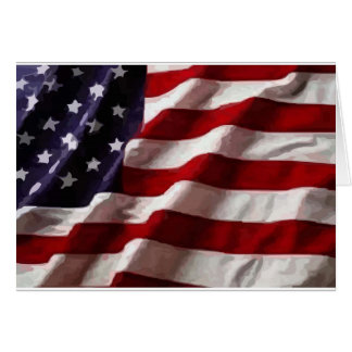 Bandera americana felicitacion