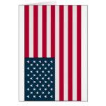 Bandera americana tarjeta