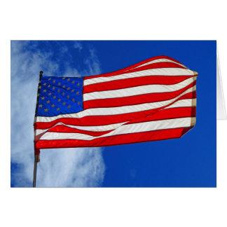 Bandera americana tarjeta de felicitación