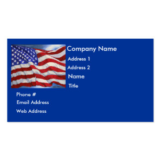 Bandera americana - tarjeta de visita