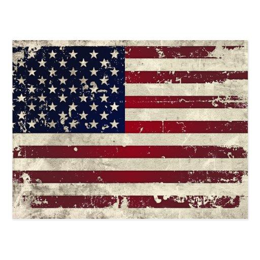 Bandera americana postal