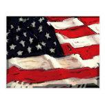 Bandera americana tarjeta postal