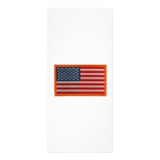 Bandera americana tarjeta publicitaria a todo color