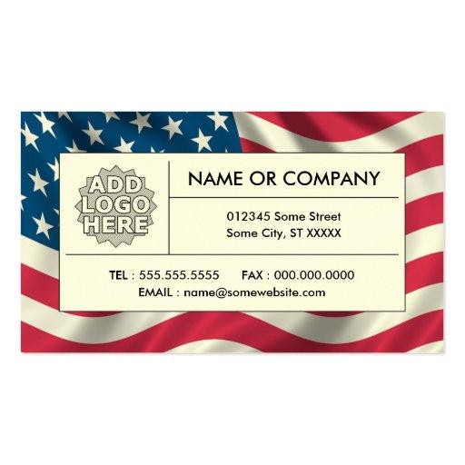 bandera americana tarjetas de visita