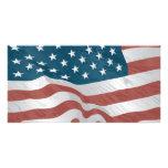 Bandera americana tarjetas personales