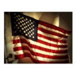 Bandera americana tarjetas postales