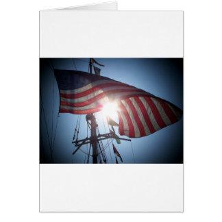 Bandera americana tarjeton