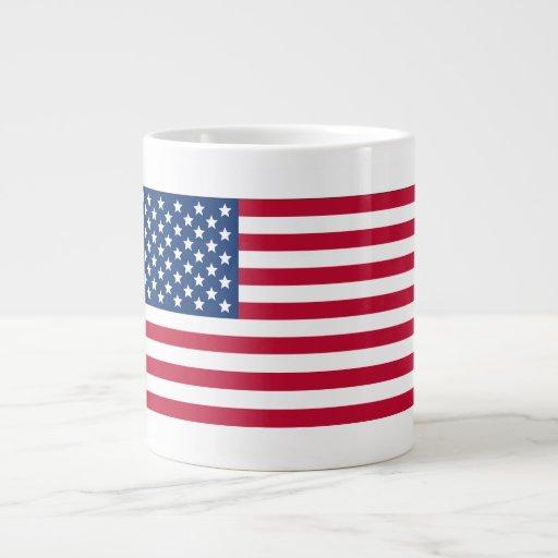 Bandera americana taza de café grande