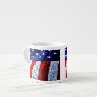 Bandera americana taza espresso