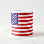Bandera americana tazas extra grande