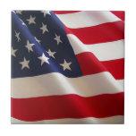 Bandera americana teja  ceramica