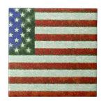 Bandera americana teja cerámica