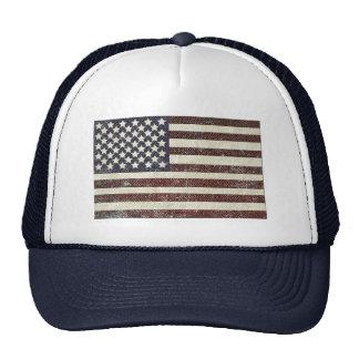 Bandera americana texturizada del viejo estilo gorras