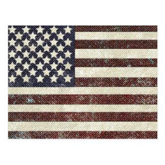 Bandera americana texturizada del viejo estilo tarjetas postales