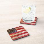 Bandera americana texturizada Grunge Posavasos De Bebidas