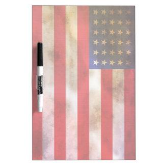 Bandera americana texturizada Grunge Tablero Blanco