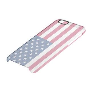 Bandera americana transparente funda clearly™ deflector para iPhone 6 de uncommon