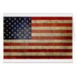 Bandera americana vieja felicitación