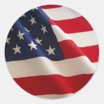 Bandera americana. ¡Vieja gloria! Pegatina Redonda
