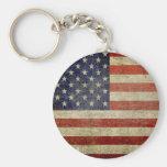 Bandera americana vieja llaveros personalizados