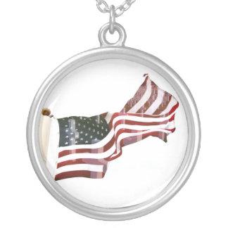 Bandera americana w/Crosses Collares Personalizados