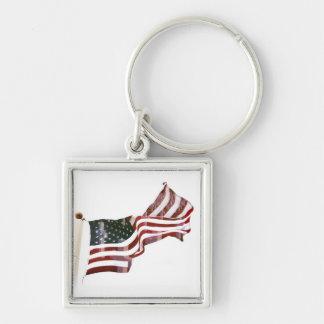 Bandera americana w/Crosses Llavero