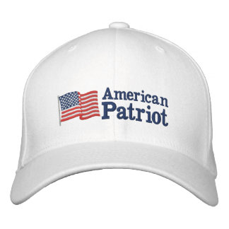 Bandera americana W del patriota Gorras Bordadas