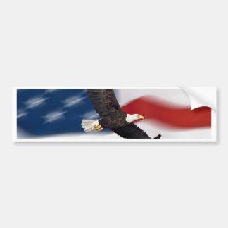Bandera americana y águila pegatina de parachoque