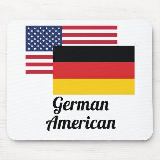 Bandera americana y alemana mouse pad