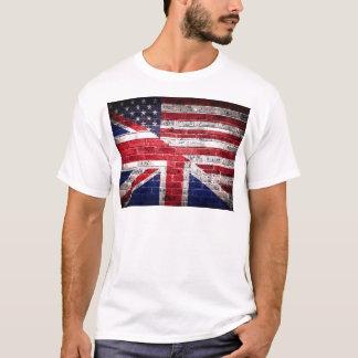 Bandera americana y británica playera