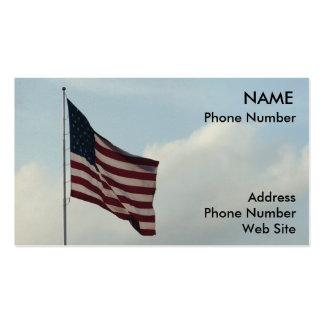 Bandera americana y cielo azul plantillas de tarjeta de negocio