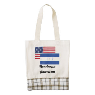 Bandera americana y del Honduran Bolsa Tote Zazzle HEART