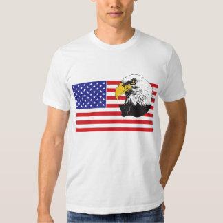 Bandera americana y Eagle Camisas