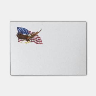 Bandera americana y Eagle Notas Post-it®