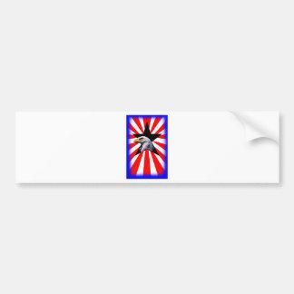 bandera americana y el águila calva pegatina de parachoque