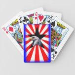 bandera americana y el águila calva baraja de cartas