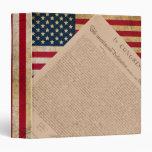 Bandera americana y la declaración