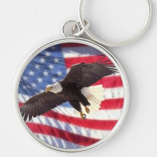 Bandera americana y llavero de Eagle