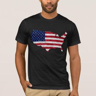 Bandera americana y mapa playera