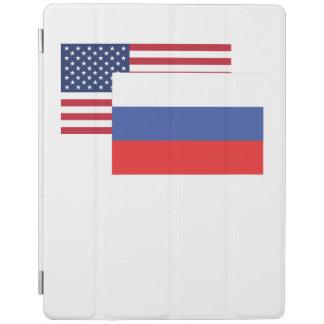 Bandera americana y rusa cover de iPad