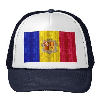 Bandera andorrana de madera gorras