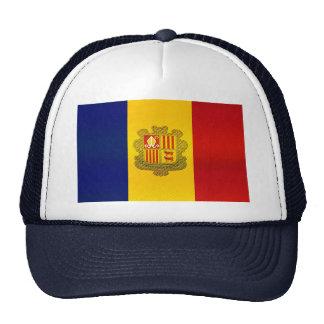 Bandera andorrana pelada moderna gorra