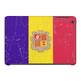 Bandera andorrana rascada y rasguñada carcasa para iPad mini
