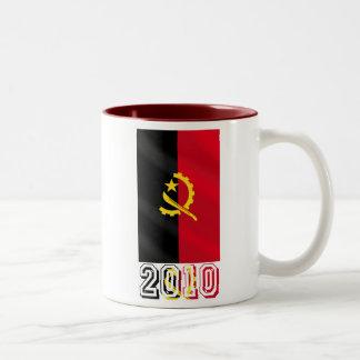 Bandera angolana de Angola 2010 regalos Taza De Dos Tonos